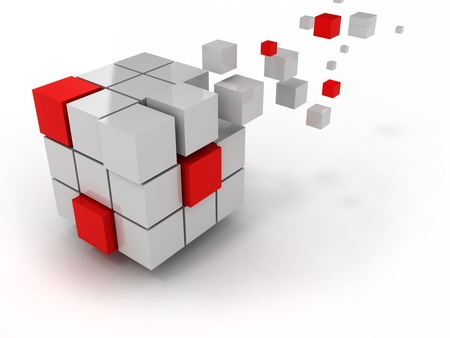 abstract cube of business structure and construction photo