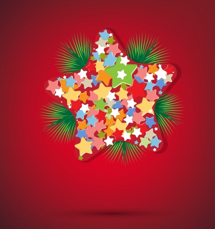 star background: Christmas star and new year background Illustration
