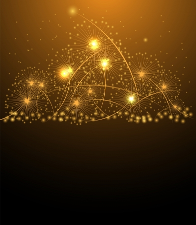 Christmas salute star and new year background Vector