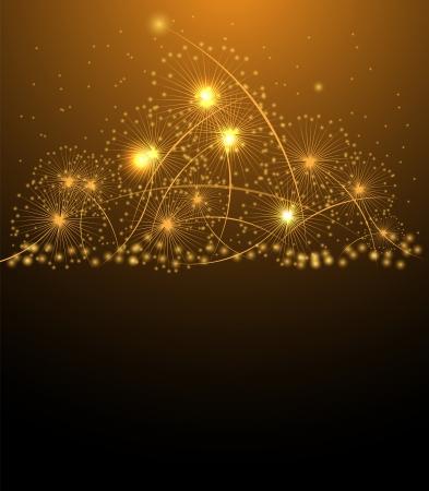 Noël salue étoiles et le fond la nouvelle année Vecteurs