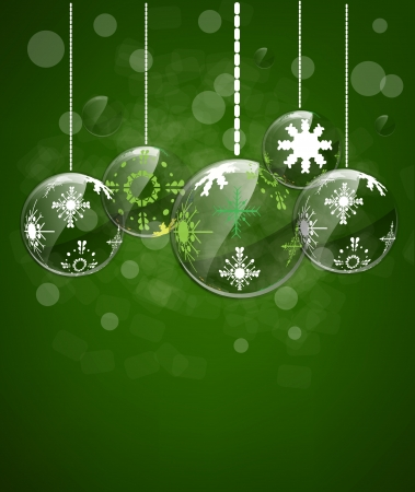Christmas background toys star and happy new year Vector