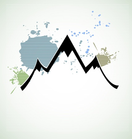 mountain range landmark urban background Vector