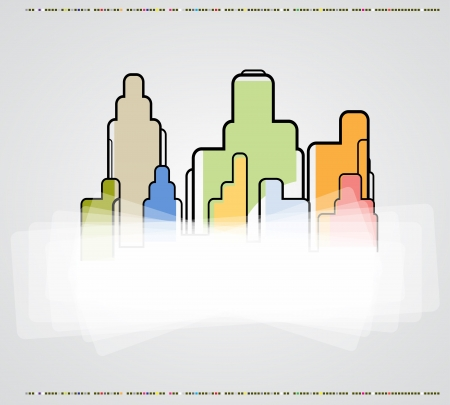 real estate city background business landscape paper houses Vector