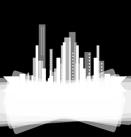 real estate city background business landscape Vector