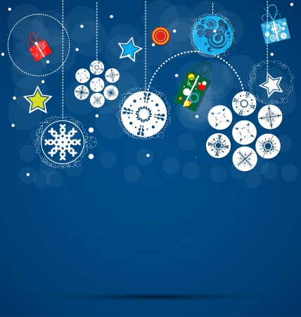 merry christmas background and happy new year Vector