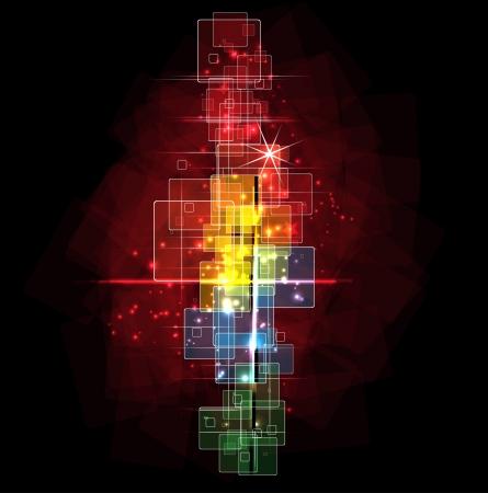 astrologie: Abstrakte dunklen Raum Hintergrund editierbare