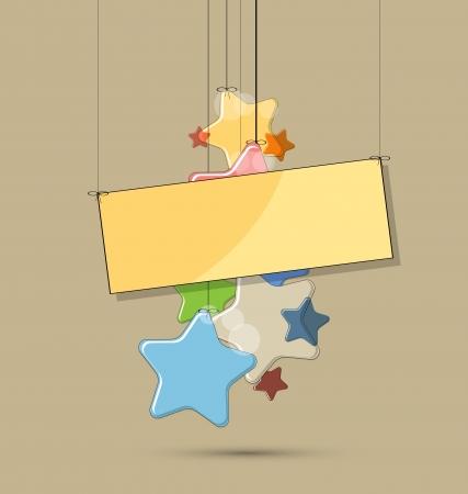 felicitaciones de cumplea�os: abstracto estrellas de color de luz de fondo para el cumplea�os