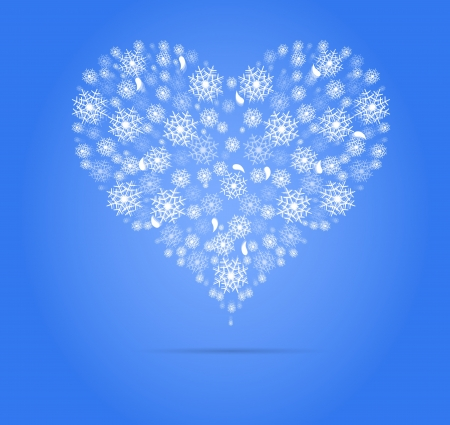 abstract winter heart for christmas and new year background Vector