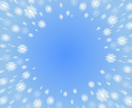Snow falling down from winter christmas and new year sky Vector