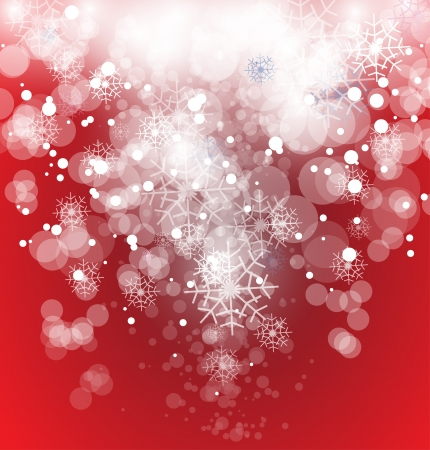 christmas flyer background: Snow falling down from winter christmas and new year sky