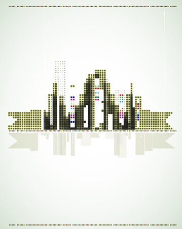 urban environments: real estate city background business landscape flyer Illustration