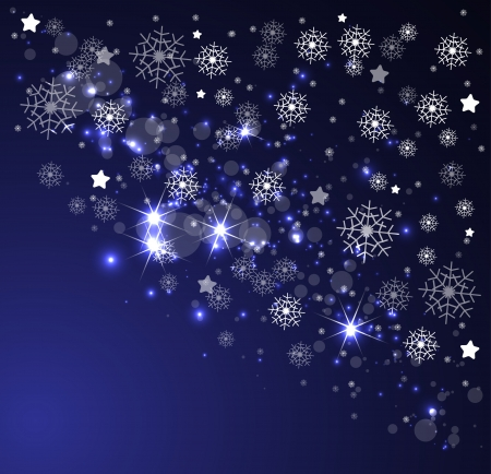 snow drifts: christmas and new year night sky