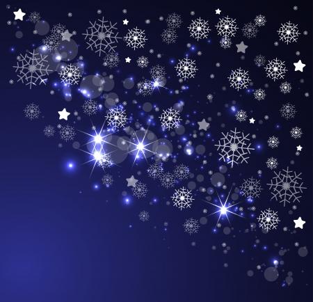 snow drift: christmas and new year night sky