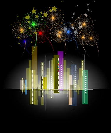City holiday Landscape abstract real estate Vector