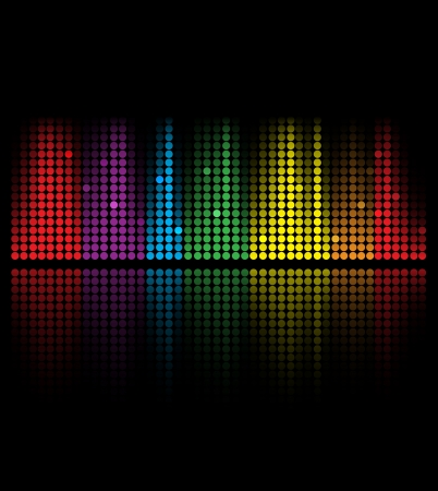 electronic music: abstract music volume equalizer concept idea background Illustration