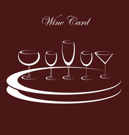 wine background alcohol drink glasses Vector