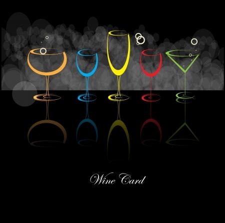 wijn en spijzen: wijnkaart achtergrond alcohol drank glas