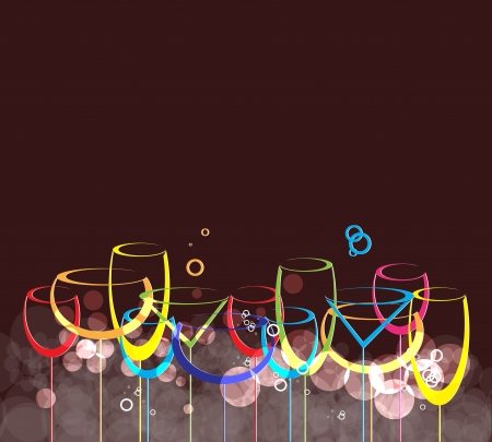 wine card background alcohol drink glass1 Vector