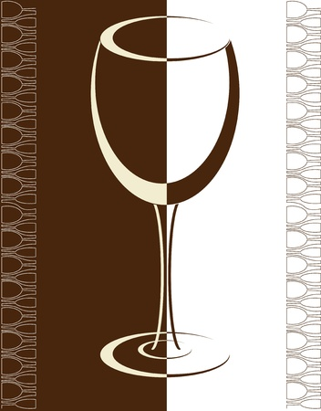 fizzy: wine card background alcohol drink glass Illustration