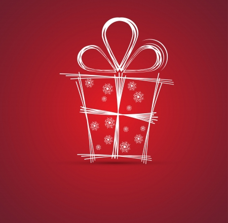 spindrift: christmas and happy new year gift box background