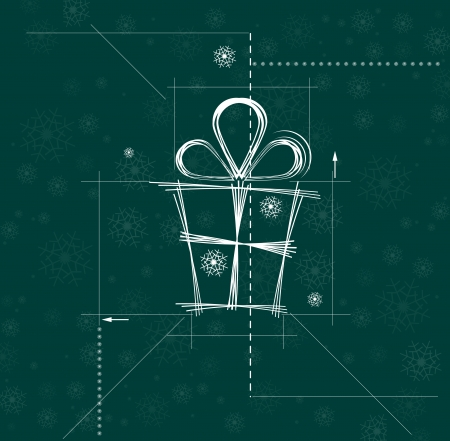 snowbank: christmas and happy new year gift circuit background