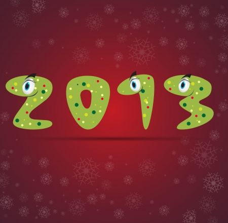 new year snake gift card background Stock Vector - 15226642