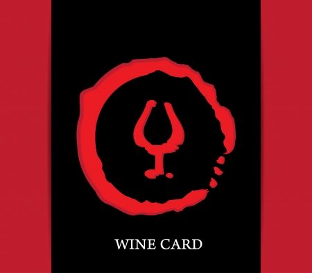 wine card concept background alcohol drink glass Vector
