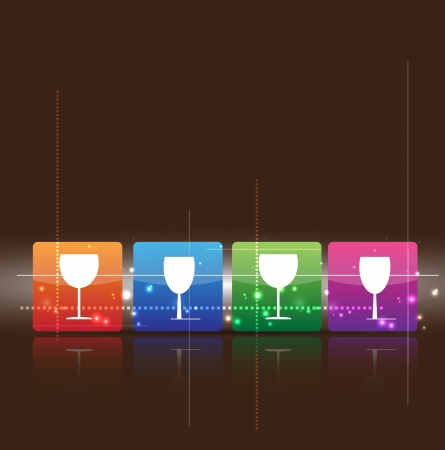 abstract wine background for restaurant menu with glass icon Vector