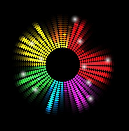 piso negro: disco light estrellas de fondo abstracto