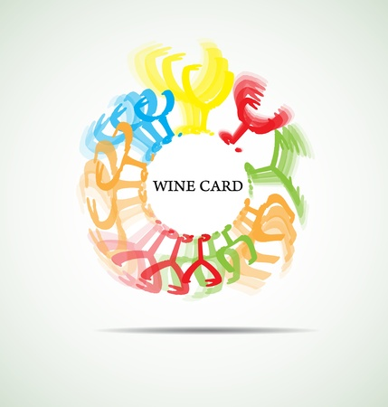 wine card with abstract glass background menu restaraunt Stock Vector - 15333162