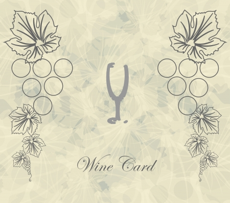 wine card with abstract glass background menu restaraunt Vector