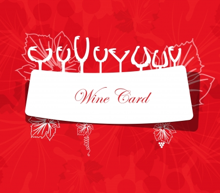 wine card: wine card concept menu on peace of paper