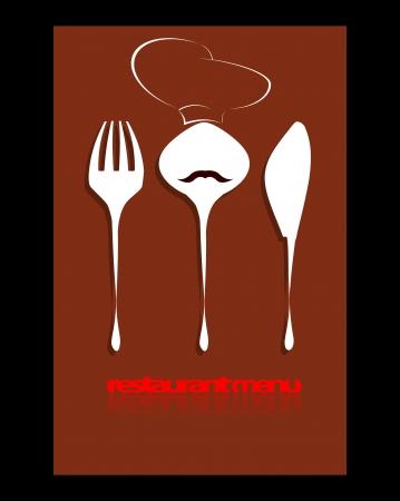 restaurante de diseño del menú