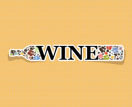 abstract drink background alcohol wine bottle Vector