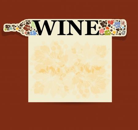 night bar: fondo abstracto alcohol bebida botella de vino Vectores