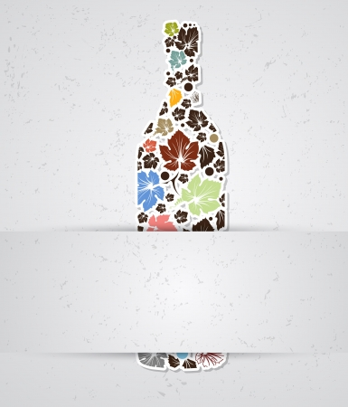 food and wine: abstract drink background alcohol wine bottle