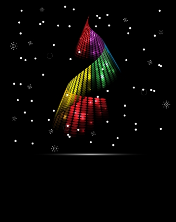 abstract christmas and new year tree background Vector