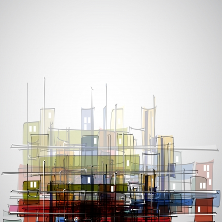 housing estate: real estate city abstract houses business background
