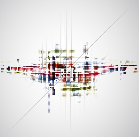 abstract color circle tecnology business background Stock Vector - 15684998