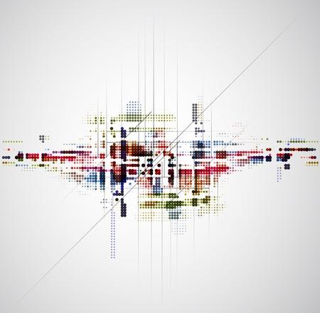effetti di luce: astratto colore cerchio tecnologia business sfondo Vettoriali