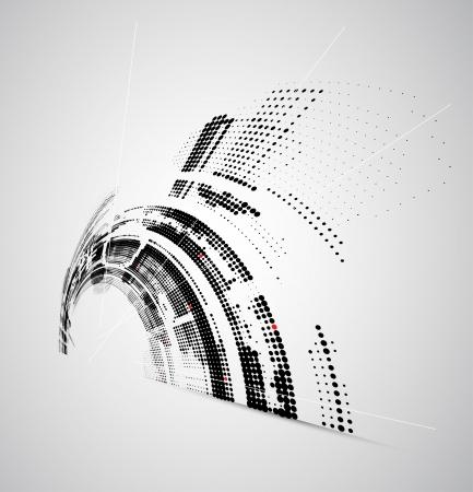 graficas: Abstract tecnolog�a brillante fondo din�mico fade