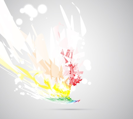 abstract fire flame futuristic background Stock Vector - 15685020