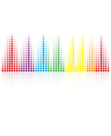 abstract music volume equalizer concept idea background Vector
