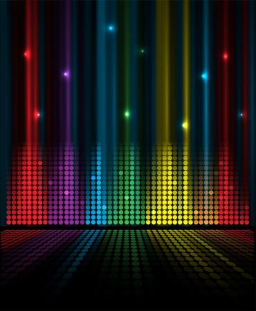 musica electronica: volumen abstracto concepto musical ecualizador idea de fondo Vectores