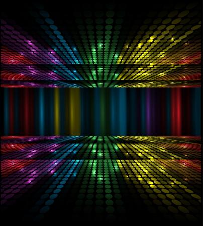 equipo de sonido: volumen abstracto concepto musical ecualizador idea de fondo Vectores