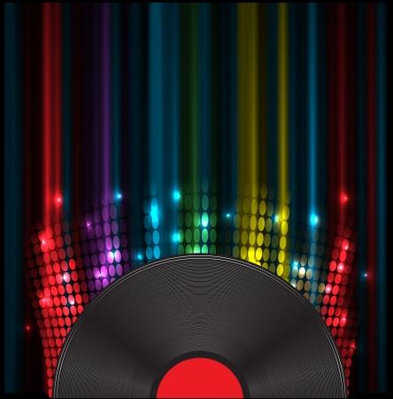 radio wave: vinil disk music volume equalizer concept idea background