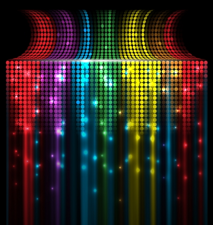 sound mixer: abstract music volume equalizer concept idea background Illustration