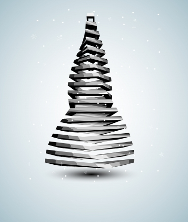 abstract iron christmas tree card Vector