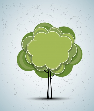 abstract futuristic stylized tree with color leafage Stock Vector - 15801574