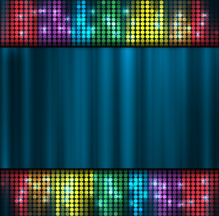 abstract music volume equalizer metal concept idea background Vector